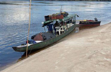 Boot während der Yanomami Expediton