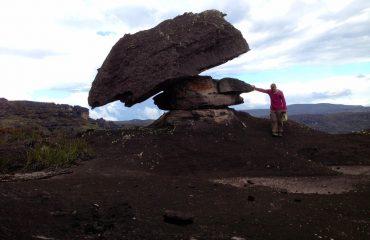 Steinformationen auf dem Tepui