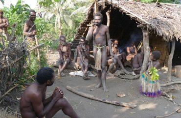 Vanuatu Insel-Tanna custom village