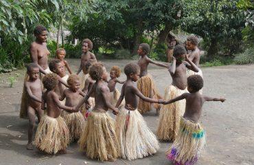 Vanuatu Insel Tanna custom village