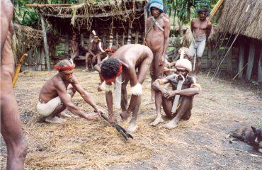West-Papua-Hochland Dani Dorf