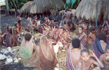 West-Papua Schweinefest im Baliem Tal