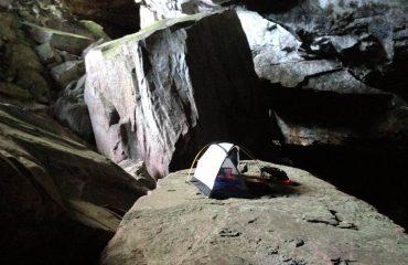 Zelt in der Charles Brewer Höhle